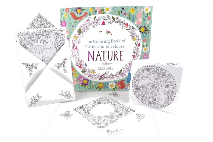 The Coloring Book of Cards and Envelopes/Nature - Discovery Toys